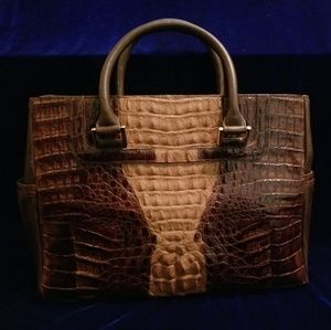 Exotic Vintage Genuine Crocodile Bag